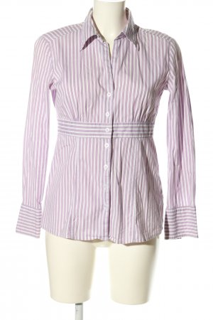 s.Oliver Langarm-Bluse lila Streifenmuster Casual-Look