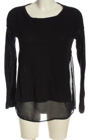 s.Oliver Langarm-Bluse schwarz Streifenmuster Casual-Look