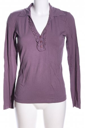 s.Oliver Langarm-Bluse lila Casual-Look