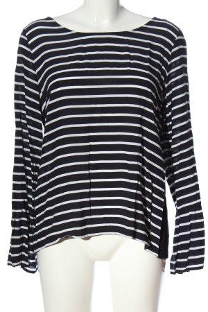 s.Oliver Langarm-Bluse schwarz-weiß Streifenmuster Casual-Look