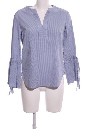 s.Oliver Langarm-Bluse blau-weiß Streifenmuster Casual-Look