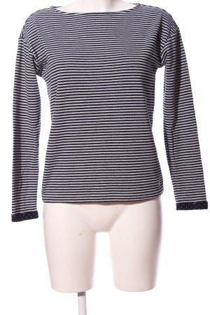 s.Oliver Langarm-Bluse weiß-schwarz Allover-Druck Casual-Look