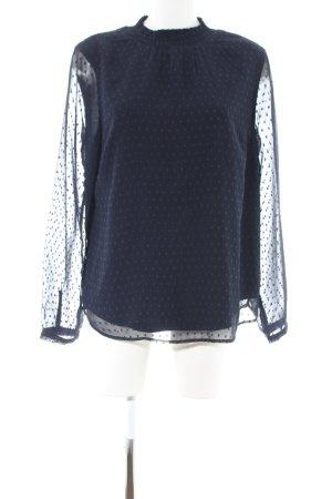 s.Oliver Langarm-Bluse blau Punktemuster Casual-Look