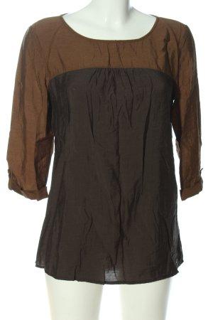 s.Oliver Langarm-Bluse braun-schwarz Casual-Look