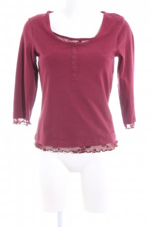 s.Oliver Langarm-Bluse rot Casual-Look
