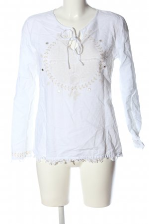 s.Oliver Long Sleeve Blouse white-natural white themed print casual look