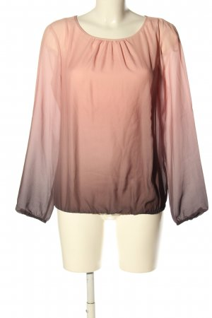 s.Oliver Langarm-Bluse pink-schwarz Farbverlauf Casual-Look