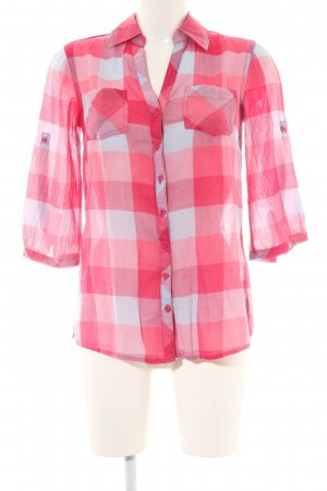 s.Oliver Langarm-Bluse rot-weiß Karomuster Casual-Look