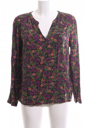 s.Oliver Langarm-Bluse Blumenmuster Casual-Look
