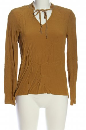 s.Oliver Langarm-Bluse braun Casual-Look