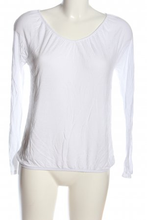 s.Oliver Langarm-Bluse weiß Casual-Look