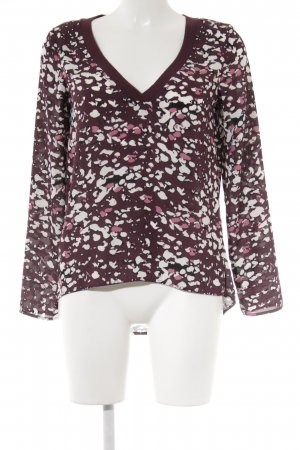 s.Oliver Langarm-Bluse grafisches Muster Casual-Look