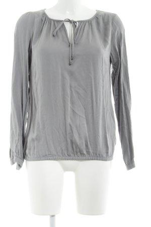 s.Oliver Langarm-Bluse grau klassischer Stil