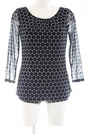 s.Oliver Long Sleeve Blouse black-light grey spot pattern casual look