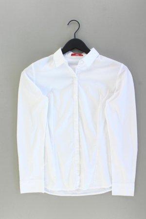 s.Oliver Langarmbluse Größe 36 weiß aus Baumwolle