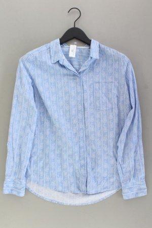 s.Oliver Langarmbluse Größe 40 blau aus Baumwolle