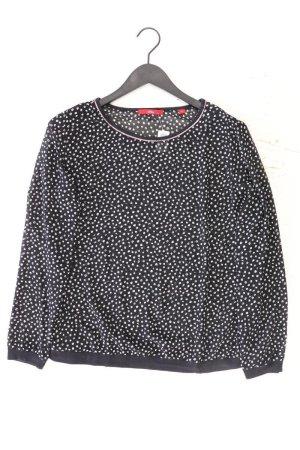 s.Oliver Langarmbluse Größe 42 gepunktet schwarz aus Polyester