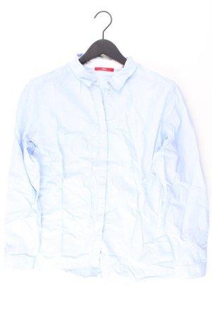 s.Oliver Langarmbluse Größe 44 blau aus Baumwolle