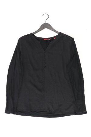 s.Oliver Langarmbluse Größe 46 schwarz aus Polyester
