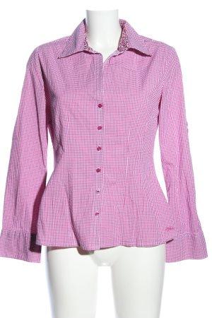 s.Oliver Langarmhemd pink-weiß Karomuster Business-Look