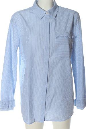 s.Oliver Langarmhemd blau-weiß Streifenmuster Casual-Look