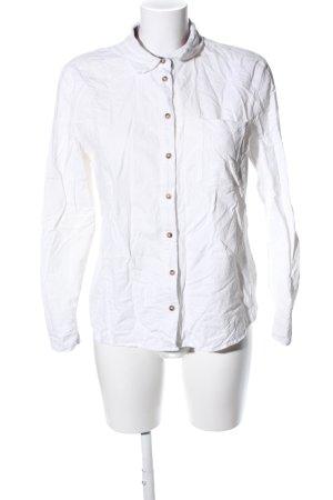 s.Oliver Shirt met lange mouwen wit zakelijke stijl
