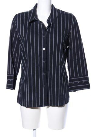 s.Oliver Langarmhemd schwarz-blau Streifenmuster Casual-Look