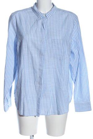s.Oliver Langarmhemd weiß-blau Streifenmuster Casual-Look