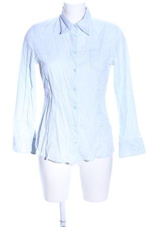 s.Oliver Langarmhemd blau-weiß Streifenmuster Business-Look