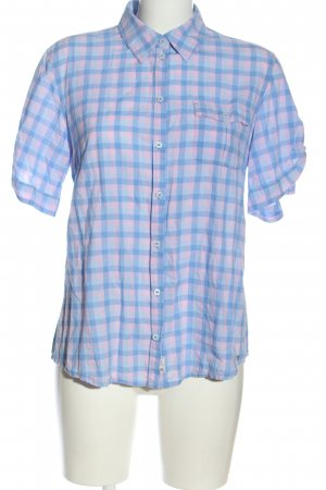 s.Oliver Langarmhemd blau Karomuster Casual-Look