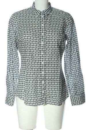 s.Oliver Langarmhemd weiß-schwarz abstraktes Muster Casual-Look
