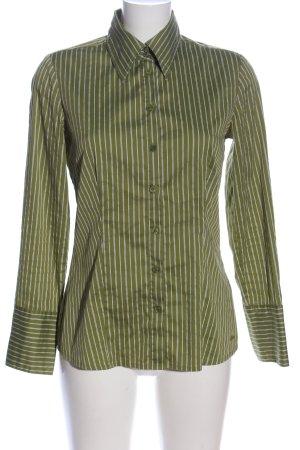 s.Oliver Koszula z długim rękawem zielony-biały Wzór w paski W stylu casual
