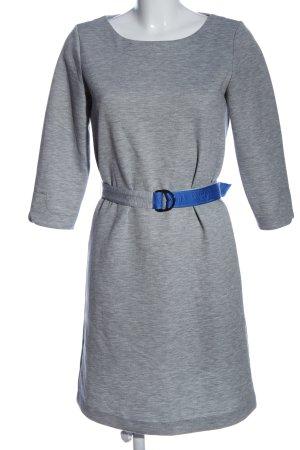 s.Oliver Langarmkleid hellgrau-blau meliert Casual-Look