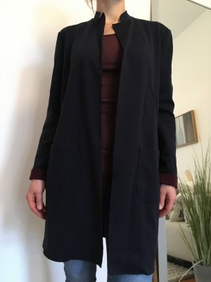 s. Oliver (QS designed) Sweat Blazer dark blue-bordeaux cotton