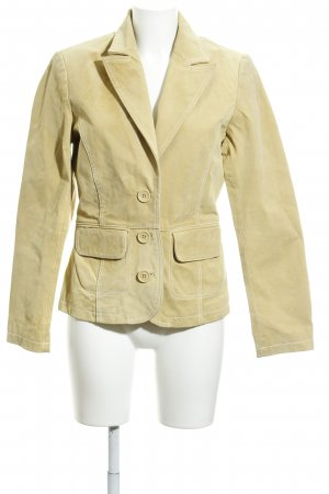 s.Oliver Leather Blazer dark yellow business style