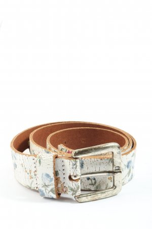 s.Oliver Leather Belt flower pattern casual look