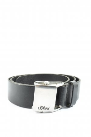 s.Oliver Leather Belt black casual look