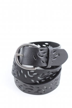 s.Oliver Leather Belt black-silver-colored casual look