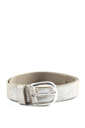 s.Oliver Cinturón de cuero marrón-color plata