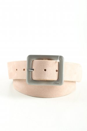 s.Oliver Leather Belt cream casual look