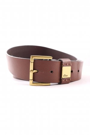 s.Oliver Faux Leather Belt brown business style