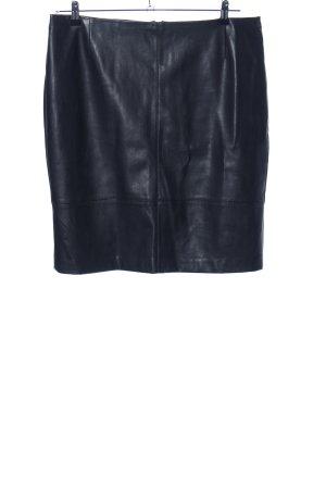 s.Oliver Leren rok zwart casual uitstraling