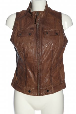 s.Oliver Leather Vest brown casual look