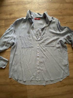 S Oliver leichtes Hemd blau weiß