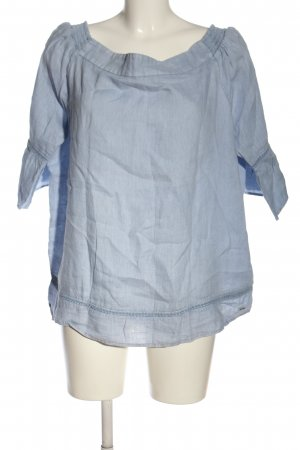s.Oliver Linen Blouse blue weave pattern casual look