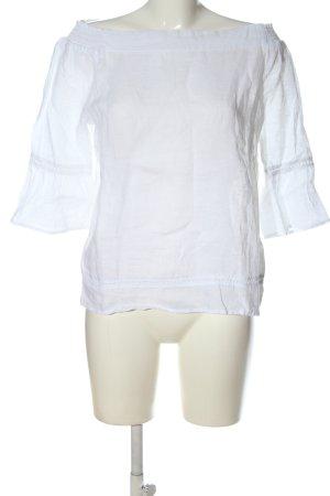 s.Oliver Blouse en lin blanc style décontracté