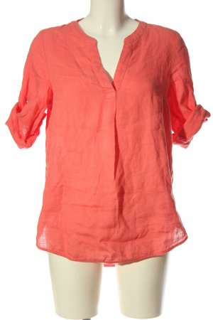 s.Oliver Linnen blouse rood casual uitstraling
