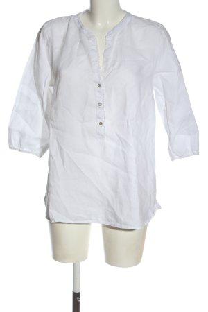 s.Oliver Lniana bluzka biały W stylu casual