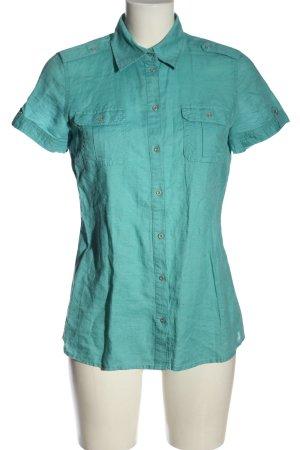 s.Oliver Linnen blouse turkoois elegant