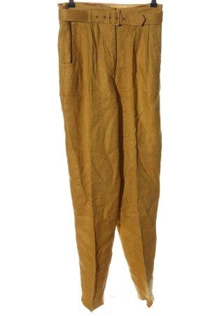 s.Oliver Lniane spodnie bladożółty W stylu casual
